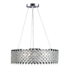 decor living 3 light crystal and chrome chandelier
