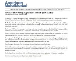 Amm Upstate Shredding Signs Lease For Ny Port Facility Jpg
