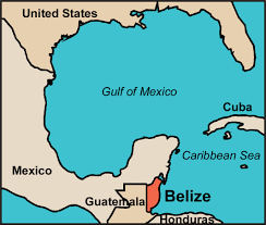 where is belize map to show it's location in central america