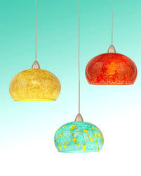 hand blown glass lamp shades pendant lighting for kitchen island the home  gorgeous table decoration with