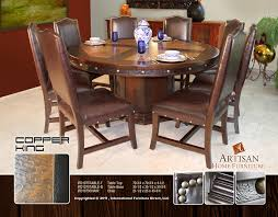 round copper dining table beautiful looking ideas with regard to hammered plans 17