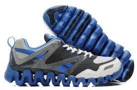 Free Shipping Mens Reebok Zigtech Shoes Gray Blue Uk Sale