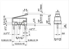 snap switch wiring diagram switch spdt mini snap action 13 5mm lever wiring diagrams