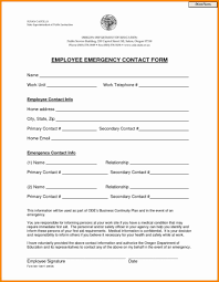employer emergency contact form template free employee emergency contact form pdf word eforms