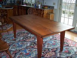 Pine Kitchen Tables For Hand Made Reclaimed Heart Pine Dining Table By Saltwater Woodworks