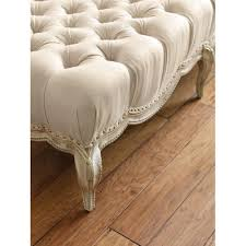 French Ottoman mahlen french country beige tufted antique ottoman kathy kuo home 2575 by xevi.us