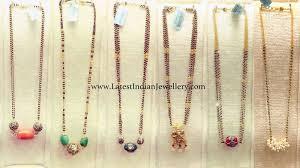Nallapusalu Locket Designs Trendy Black Bead Chains Black Gold Jewelry Gold Jewelry