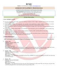 Impressive Resume For Software Engineer Doc Also Android Developer