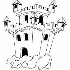 Disegno Di Il Castello Da Colorare Per Bambini