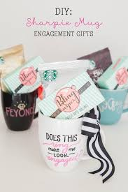 diy sharpie mug engagement gift