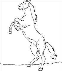 Coloring Pages Of Horses Printable Wild Horse To Print As Well