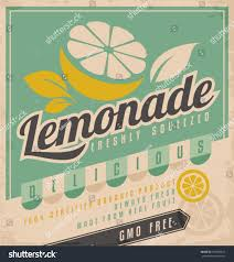 Food Product Poster Design Retro Poster Design Ice Cold Lemonade Vintage Food And