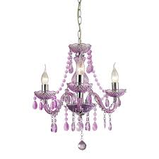 three light mini purple chandelier