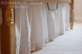 Crib Skirt Pattern Beauteous Adjustable Ruffled Crib Skirt A Small Snippet