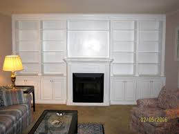 wall unit with fireplace mantel