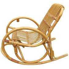 red rare child s snake arm rattan rocking chair for
