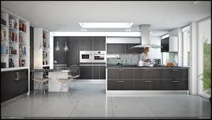 Clear Glass Backsplash Kitchen Appliances Open Plan Modern Minimalist Kitchen Design