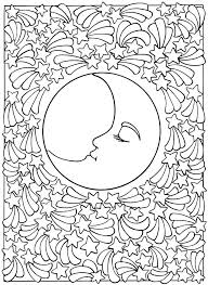 free printable sun and moon coloring pages free coloring pages moon coloring pages for teens moon coloring pages