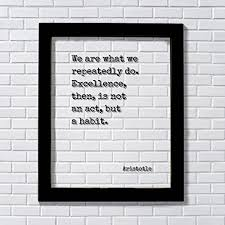 Aristotle Excellence Quote Unique Amazon Aristotle We Are What We Repeatedly Do Excellence