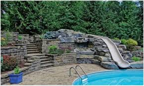 Backyards : Amazing 16 Swimming Pool Slides 135 Simple Backyard ...