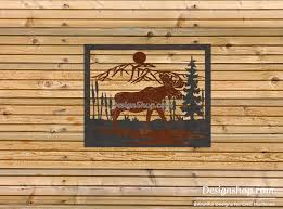 log cabin wall art inspirational moose wall art dxf file for cnc of 20 new log