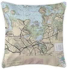 Tide Chart For Hingham Ma Longshore Tides Nautical Chart Hingham Ma Throw Pillow In
