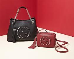 gucci bags saks. gucci soho medium studded leather chain shoulder bag bags saks