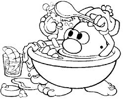 Small Picture Coloring Mr Potato Head in his bathroom picture