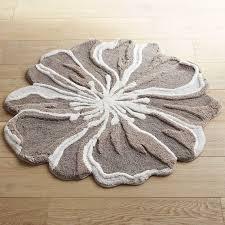 flowershaped round gray bath rug pier imports