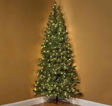 7-Foot Pre-Lit Corner Christmas Tree