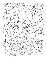 Here is a set of nativity coloring pages for preschoolers. The Birth Of Christ