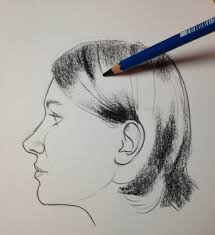 608x664 keys to drawing realistic hair conquering the coiffure