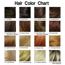 Hair Color Chart My Hair Is Dark Brown But Id Like It To