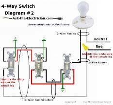 how to wire a 4 way switch Lutron 4 Way Switch Wiring Diagram the white wire of the cable going to the switch is attached to the black line in the fixture box using a wirenut the white wire becomes the energized lutron 4 way switch wiring diagram