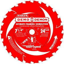 skil saw blade. 24-tooth demo demon tracking point amped saw skil blade y