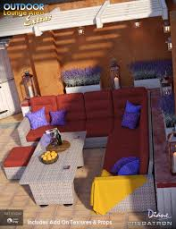 Outdoor Lounge Outdoor Lounge Area Extras 3d Models And 3d Software By Daz 3d