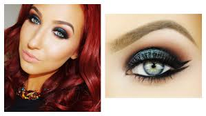 emerald smokey eye double wing liner makeup tutorial jaclyn hill