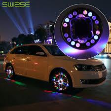 Wheel Lights Us 52 49 30 Off 4pcs Lot Led Colorful Rgb Waterproof Flash Wheel Lights Led Lights For Car Rims Solar Power Wheel Lamp For Audi Bmw Honda Focus In