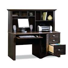 elegant tall computer desk for home design antique black with hutch harbor view