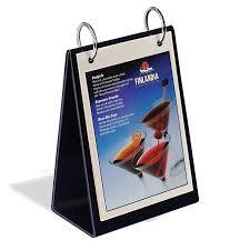 Menu Flip Charts Tabletop Flip Chart A Style 8 1 2 X 11 Braeside Displays