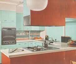 blue kitchen electric range
