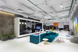 office space lighting. Furniture Creating Office Space Suspended Track Lighting White And Grey Open Ceiling Design Ideas For