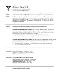 Cna Resume Objective Examples Examples Of Resumes Cna Resume