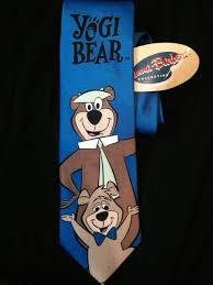 yogi bear boo boo mens necktie hanna barbera cartoon show gift tie new wbhannabarbera necktie