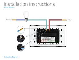 us au standard 3 gang rf remote control or rf remote control touch wiring installation instruction