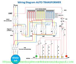 wiring diagram rangkaian auto trafo (auto transformer) dengan auto transformer calculations at Auto Transformer Wiring Diagram