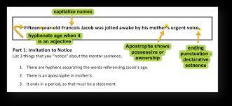 Mentor Sentence Anchor Chart Mastering Grammar With Mentor Sentences Part 1 Scholastic