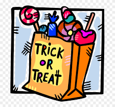 trunk or treat candy clipart. Beautiful Clipart Vector Illustration Of Trick Or Treat Bag Halloween   Candy On Trunk Clipart U