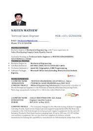 technical sales resumes resume sales engineer