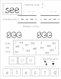 Free Sight Word Worksheets For Kindergarten Worksheet Reading Words ...